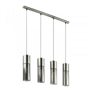 Lustră Yannick pentru bucătărie cu 4 lumini, gri, 80cm L x 9cm D x 156cm H