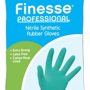 Manusi Finesse Professional din cauciuc nitril sintetic, marimea M, bleu