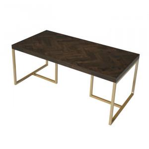 Masă de cafea Casas, lemn/metal, maro, 45 x 110 x 55 cm