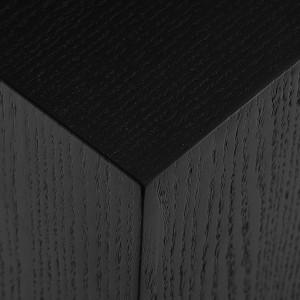 Masa de cafea Clarice, negru, 45 x 45 cm