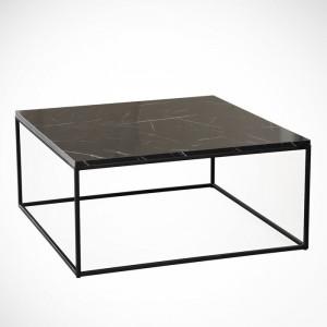 Masă de cafea Eddington, negru, 43 x 75 x 75 cm
