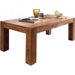 Masa de cafea Perry, lemn masiv, maro, 40 x 110 x 60 cm