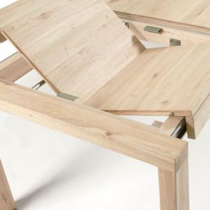 Masa extensibila Briva, lemn masiv de stejar, capacitate 10 persoane