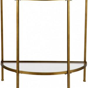 Masă tip consolă Goddess, auriu, 75 x 76cm
