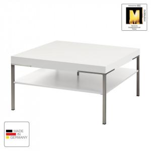 Masuta de cafea Anzio MDF/metal, alb, 75 x 42 x 75 cm