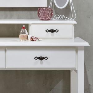 Masuta de toaleta Friedrich, lemn masiv, alb