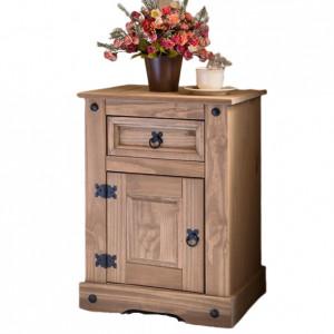 Noptiera Ezio, lemn, maro, 64 x 45 x 35 cm