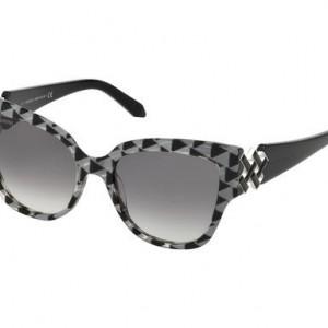 Ochelari ATELIER SWAROVSKI SK0161-P/S 01B negru si argintiu