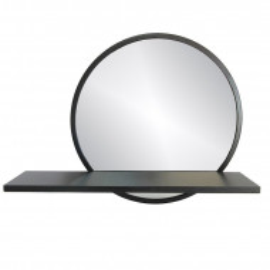 Oglinda Auryanna, negru, 45 x 35 x 11 cm