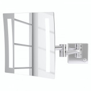 Oglinda cosmetica Milos cu sistem de iluminare inclus aluminiu, crom, 20 x 20 x 42 cm