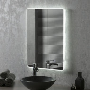 Oglindă de baie Moscova, buton tactil de dezaburire, 70cm H x 50cm W