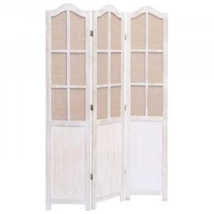 Paravan Galligan, lemn, alb, 165 x 105 x 2 cm