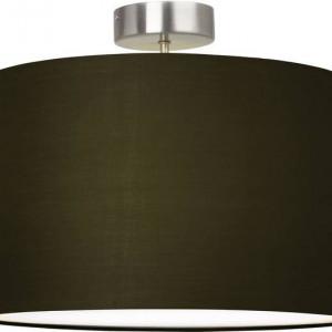 Plafoniera Clarie metal/tesatura, negru, 1 bec, diametru 40 cm, 230 V