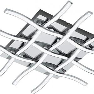 Plafoniera Lasana 1 otel/plastic, argintiu, 1 bec, 36 W, 3000 K