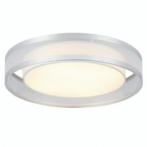 Plafoniera LED Naxos I bumbac/fier, alb/argintiu, 1 bec, diametru 40 cm, 230 V