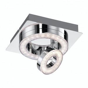 Plafoniera LED Tim sticla acrilica/fier, argintiu/transparent, 1 bec, 230 V, 3000 K