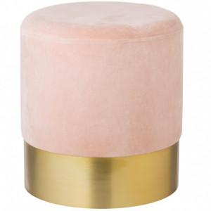 Puf Harlow, catifea, roz/auriu