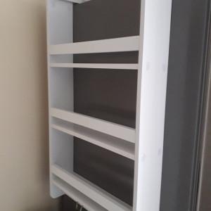 Raft pentru condimente, lemn, alb, 73 x 42 x 10 cm