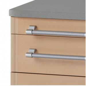 Rollcontainer Avero I PAL/metal/plastic, maro/argintiu, 42 x 61 x 49 cm