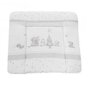 Saltea pentru bebelusi, alb/gri, 75 cm