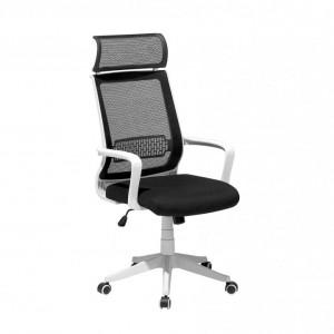 Scaun de birou Leader, alb/negru, 63 x 63 x 123 cm