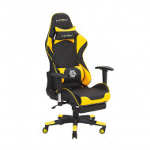 Scaun de gaming/birou Victory, negru/galben, 55 x 60 x 132 cm