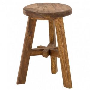 Scaun Dingklik, lemn masiv, 35 x 50 x 30 cm
