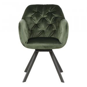 Scaun Lola, metal, verde, 81,5 x 57,5 x 61,5 cm