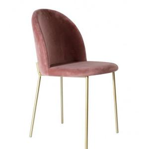 Scaun tapitat Balfor, roz/auriu, 82 x 45 x 53 cm