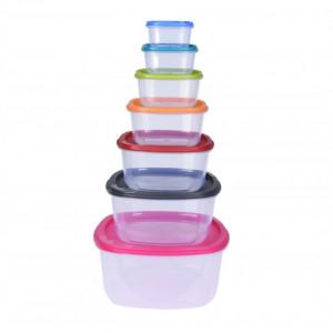 Set 7 caserole pentru alimente Karll, plastic, multicolor