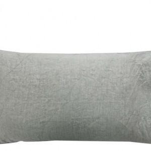 Set de 2 fete de perna Puro lino gri fumuriu, 50x80 cm