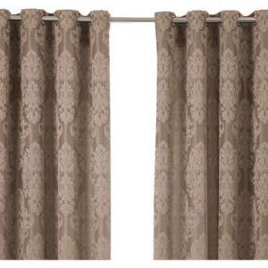 Set de 2 perdele Clothilde bej, 140 x 205 cm
