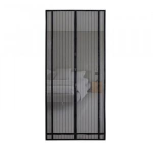 Set de 2 perdele pentru usa, negru, 100 x 220 cm