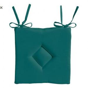 Set de 2 perne decorative, verde smarald, 40x40 cm