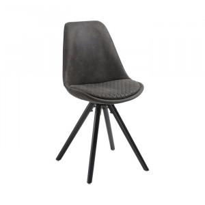 Set de 2 scaune Aleena, grafit, 86 x 41 x 43 cm