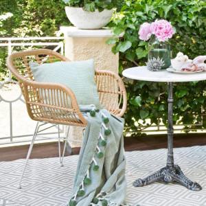 Set de 2 scaune Costa cu cotiere, natur/alb
