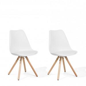 Set de 2 scaune Dakota, maro/alb, 49 x 45 x 86 cm