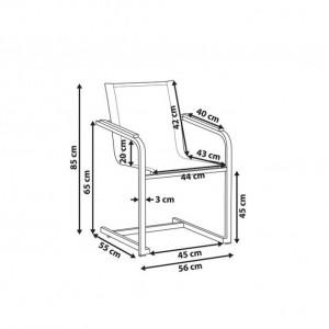 Set de 2 scaune de terasă Cosoleto, gri, 85 x 56 cm