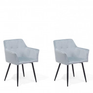 Set de 2 scaune Jasmin, gri/negru, 60 x 49 x 84 cm