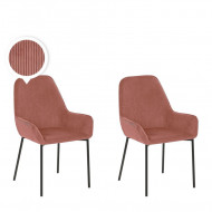 Set de 2 scaune Loverna, roz, 56 x 59 x 89 cm