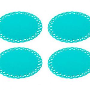 Set de 4 coastere pentru pahare Maid azuro