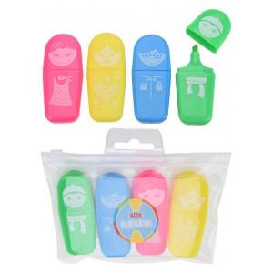 Set de 4 markere neon Karll