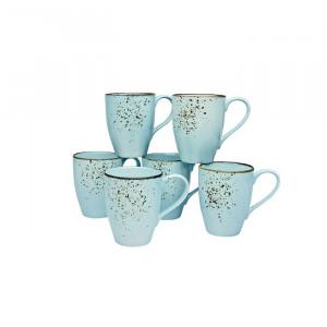 Set de 6 cani de cafea Corley, albastru deschis