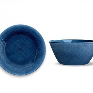 Set de 8 farfurii si boluri Potter Reactive, albastru