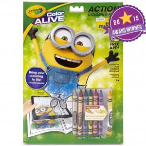Set de colorat Crayola Alive, 7 creioane si o carte de colorat