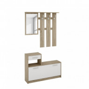 Set de mobilier de hol Brancepeth decor stejar Sonoma