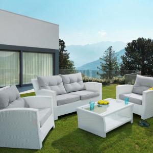Set de ratan San Marino, alb