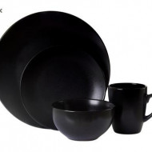 Set de vase Hygge negru, 16 piese