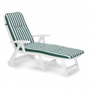 Sezlong Charleston, verde/alb, 97 x 72 x 189 cm