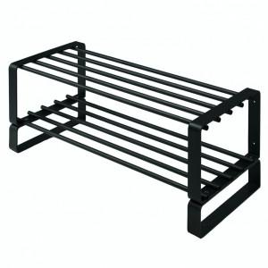 Stand pentru incaltari Grundy otel, negru, 70 x 29 x 27 cm